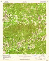 Talbotton, Georgia 1955 (1961) USGS Old Topo Map Reprint 15x15 GA Quad 247574