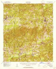 Talbotton, Georgia 1950 (1955) USGS Old Topo Map Reprint 15x15 GA Quad 247576