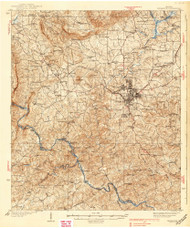 Thomaston, Georgia 1939 () USGS Old Topo Map Reprint 15x15 GA Quad 247582