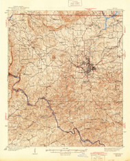 Thomaston, Georgia 1939 (1944) USGS Old Topo Map Reprint 15x15 GA Quad 247585