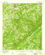 Villa Rica, Georgia 1958 (1960) USGS Old Topo Map Reprint 15x15 GA Quad 247589