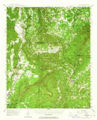 Waleska, Georgia 1947 (1964) USGS Old Topo Map Reprint 15x15 GA Quad 247591