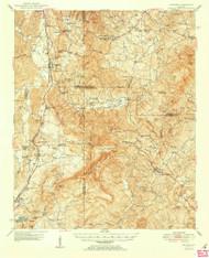 Waleska, Georgia 1950 () USGS Old Topo Map Reprint 15x15 GA Quad 247593