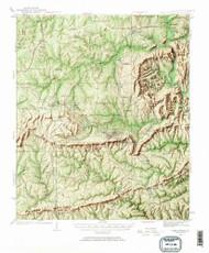 Warm Springs, Georgia 1934 (1967) USGS Old Topo Map Reprint 15x15 GA Quad 247594
