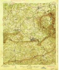 Warm Springs, Georgia 1936 () USGS Old Topo Map Reprint 15x15 GA Quad 247601