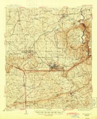 Warm Springs, Georgia 1936 (1945) USGS Old Topo Map Reprint 15x15 GA Quad 247602