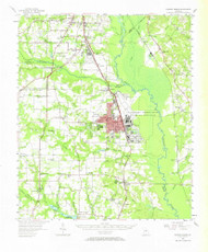 Warner Robins, Georgia 1956 (1966) USGS Old Topo Map Reprint 15x15 GA Quad 247608
