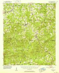 Yatesville, Georgia 1951 (1952) USGS Old Topo Map Reprint 15x15 GA Quad 247614