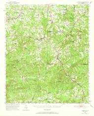 Yatesville, Georgia 1951 (1969) USGS Old Topo Map Reprint 15x15 GA Quad 247615