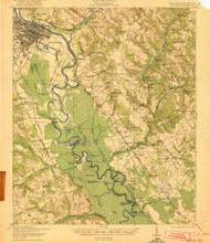 Augusta, Georgia 1921 () USGS Old Topo Map Reprint 15x15 GA Quad 261783