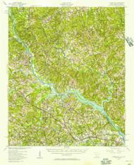 Clarks Hill, South Carolina 1941 (1957) USGS Old Topo Map Reprint 15x15 GA Quad 261807