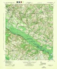 Ellenton, South Carolina 1944 () USGS Old Topo Map Reprint 15x15 GA Quad 261829