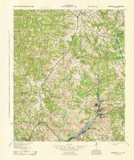 Warrenville, South Carolina 1943 () USGS Old Topo Map Reprint 15x15 GA Quad 261978
