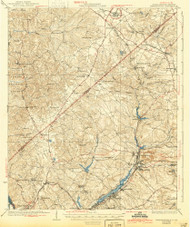 Warrenville, South Carolina 1928 (1944) USGS Old Topo Map Reprint 15x15 GA Quad 261979