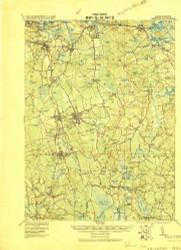 Abington, Massachusetts 1920 (1920) USGS Old Topo Map Reprint 15x15 MA Quad 352433
