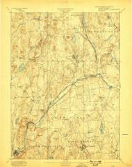 Barre, Massachusetts 1894 (1898) USGS Old Topo Map Reprint 15x15 MA Quad 352452