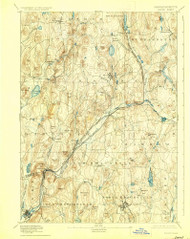 Barre, Massachusetts 1894 (1927) USGS Old Topo Map Reprint 15x15 MA Quad 352456