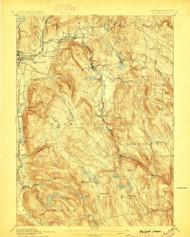 Becket, Massachusetts 1897 (1897) USGS Old Topo Map Reprint 15x15 MA Quad 352463