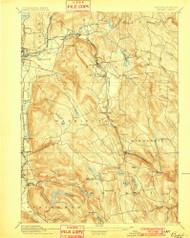 Becket, Massachusetts 1897 (1901) USGS Old Topo Map Reprint 15x15 MA Quad 352464