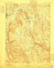 Becket, Massachusetts 1897 (1909) USGS Old Topo Map Reprint 15x15 MA Quad 352466