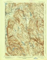Becket, Massachusetts 1897 (1938) USGS Old Topo Map Reprint 15x15 MA Quad 352457