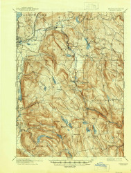 Becket, Massachusetts 1897 (1946) USGS Old Topo Map Reprint 15x15 MA Quad 352459