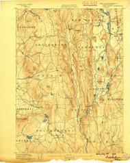 Belchertown, Massachusetts 1890 (1890) USGS Old Topo Map Reprint 15x15 MA Quad 352471
