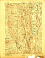 Belchertown, Massachusetts 1893 (1893) USGS Old Topo Map Reprint 15x15 MA Quad 352472