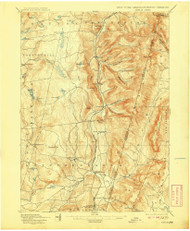 Berlin, New York 1898 (1908) USGS Old Topo Map Reprint 15x15 MA Quad 139234