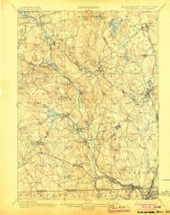 Blackstone, Massachusetts 1900 (1904) USGS Old Topo Map Reprint 15x15 MA Quad 352491