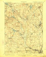 Blackstone, Massachusetts 1900 (1914) USGS Old Topo Map Reprint 15x15 MA Quad 352493