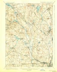 Blackstone, Massachusetts 1900 (1930) USGS Old Topo Map Reprint 15x15 MA Quad 352496