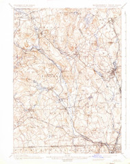 Blackstone, Massachusetts 1900 (1937) USGS Old Topo Map Reprint 15x15 MA Quad 352482