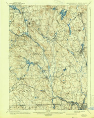 Blackstone, Massachusetts 1900 (1942) USGS Old Topo Map Reprint 15x15 MA Quad 352485