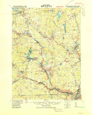 Blackstone, Massachusetts 1919 (1919) USGS Old Topo Map Reprint 15x15 MA Quad 352494