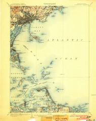 Boston Bay, Massachusetts 1903 (1903) USGS Old Topo Map Reprint 15x15 MA Quad 352524