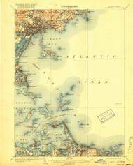 Boston Bay, Massachusetts 1903 (1918) USGS Old Topo Map Reprint 15x15 MA Quad 352528