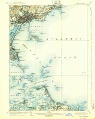 Boston Bay, Massachusetts 1903 (1939) USGS Old Topo Map Reprint 15x15 MA Quad 352517