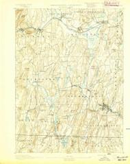 Brookfield, Massachusetts 1893 (1893) USGS Old Topo Map Reprint 15x15 MA Quad 352540