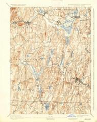 Brookfield, Massachusetts 1893 (1936) USGS Old Topo Map Reprint 15x15 MA Quad 352535