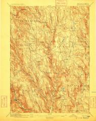 Chesterfield, Massachusetts 1895 (1909) USGS Old Topo Map Reprint 15x15 MA Quad 352568