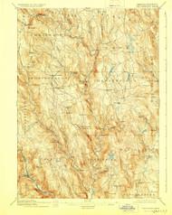 Chesterfield, Massachusetts 1895 (1928) USGS Old Topo Map Reprint 15x15 MA Quad 352571