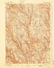 Chesterfield, Massachusetts 1895 (1940) USGS Old Topo Map Reprint 15x15 MA Quad 352559