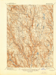 Chesterfield, Massachusetts 1895 (1944) USGS Old Topo Map Reprint 15x15 MA Quad 352561