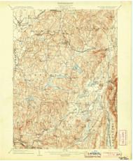 Copake, New York 1904 (1904) USGS Old Topo Map Reprint 15x15 MA Quad 140550