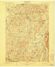 Copake, New York 1904 (1908) USGS Old Topo Map Reprint 15x15 MA Quad 140551
