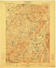 Copake, New York 1904 (1912) USGS Old Topo Map Reprint 15x15 MA Quad 140552