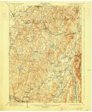 Copake, New York 1904 (1927) USGS Old Topo Map Reprint 15x15 MA Quad 140554