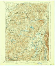 Copake, New York 1904 (1934) USGS Old Topo Map Reprint 15x15 MA Quad 137706