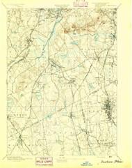 Dedham, Massachusetts 1894 (1894) USGS Old Topo Map Reprint 15x15 MA Quad 352576